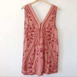 Free People intimately Embroidered Terra-cotta SM